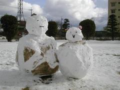 雪だるまの写真